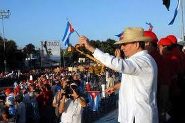 Raúl Castro Ruz, desfile Primero de Mayo, Cuba, 2011