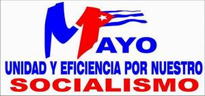 Logo del Primero de Mayo de 2014 en Cuba
