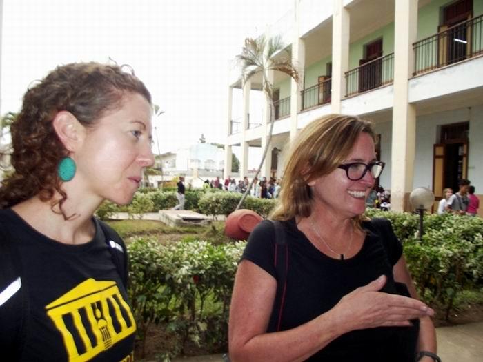 El grupo de estudiantes de la Universidad de Kentucky visitó las ciudades de Santiago de Cuba, Holguín, y Bayamo; y luego del recorrido por Camagüey, continúan rumbo a Trinidad, La Habana y Pinar del Río. Foto: Miozotis Fabelo