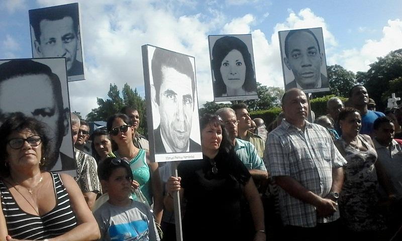 Realizan peregrinación en homenaje a víctimas del Terrorismo en Cuba