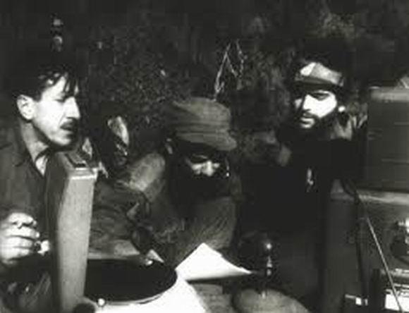 Radio Rebelde en la Sierra Maestra. Foto tomada de Cubadebate.