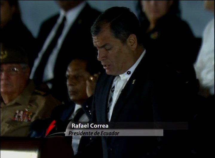 Rafael Correa: Fidel murió invicto, haciendo honor a su tiempo