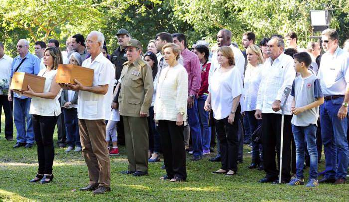 Ashes of Ramon and Angela Castro interred in Biran by Raul
