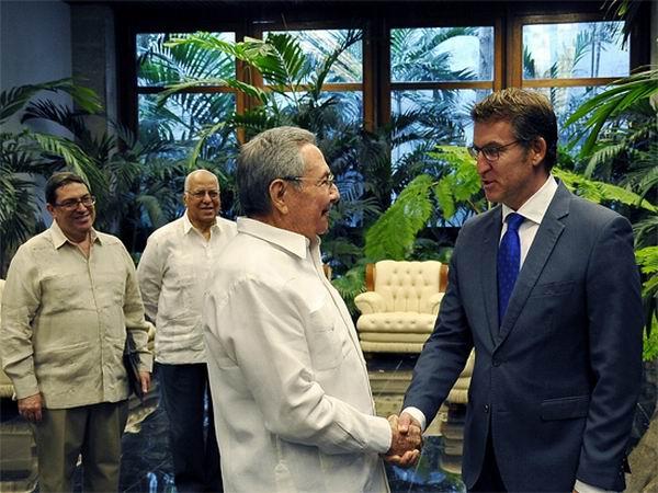 Recibi� Ra�l Castro al Presidente de la Junta de Galicia