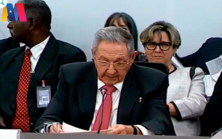 Discurso de Raúl Castro en la XV Cumbre del ALBA-TCP