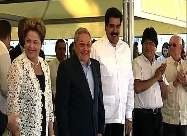 Raúl Castro y Dilma Rousseff inauguran Zona Especial de Desarrollo del Mariel