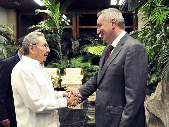 Recibió Raúl Castro al vicepresidente ruso Dimitri Rogozin