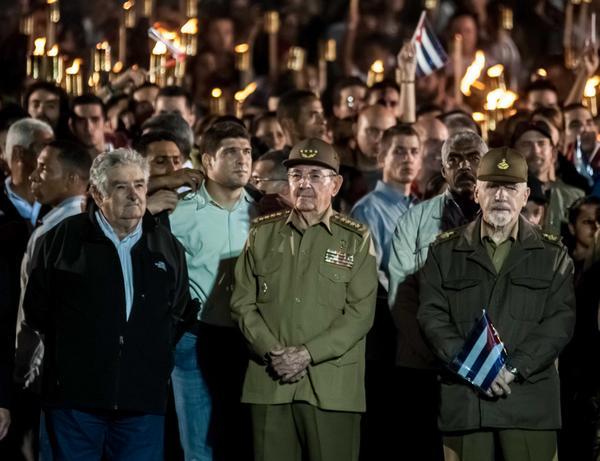 Raul Castro Leads March in Tribute to Marti
