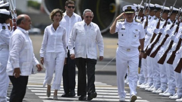 President Raul Castro Arrives in Colombia