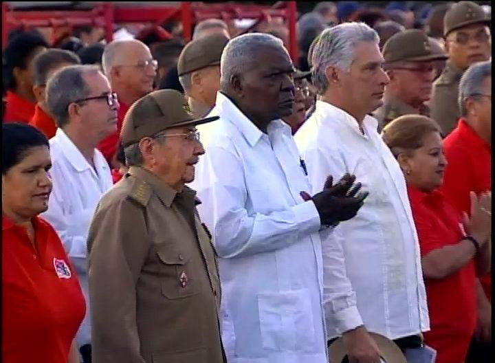 Cuban President presided over the Central Ceremony for the 64th Anniversary of the National Rebellion Day