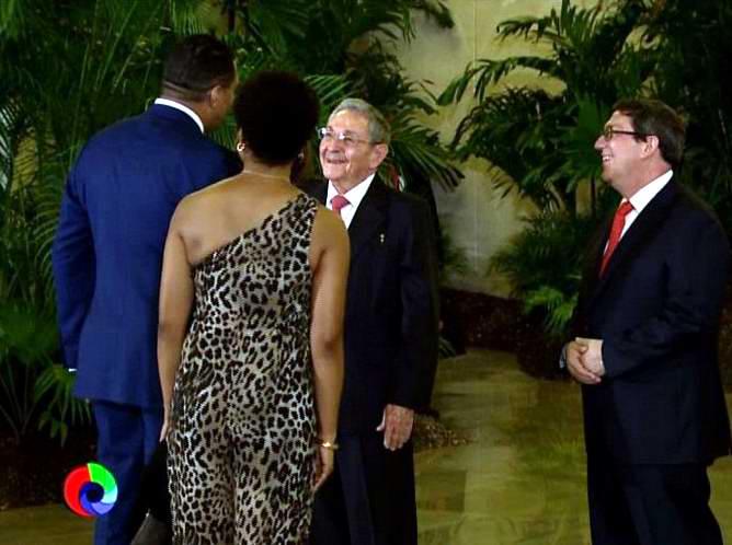 Recibe Raúl Castro al Primer Ministro de Jamaica, Andrew Holness. Foto: Twitter de Radio Rebelde