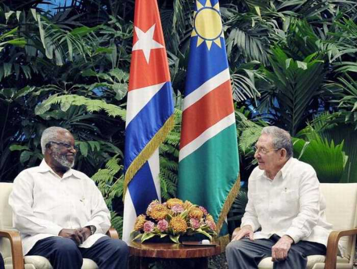 Raul Receives Sam Nujoma