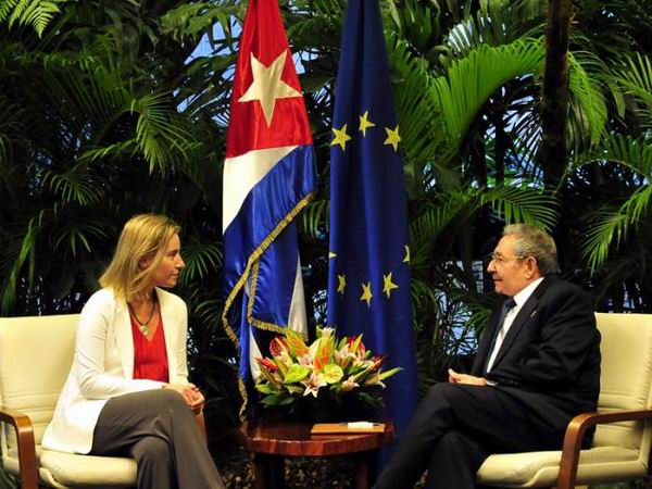 Raul Receives High Representative of the European Union