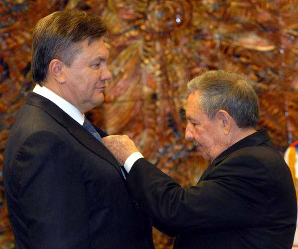 The Ukrainian President Presented with the Jose Marti Order