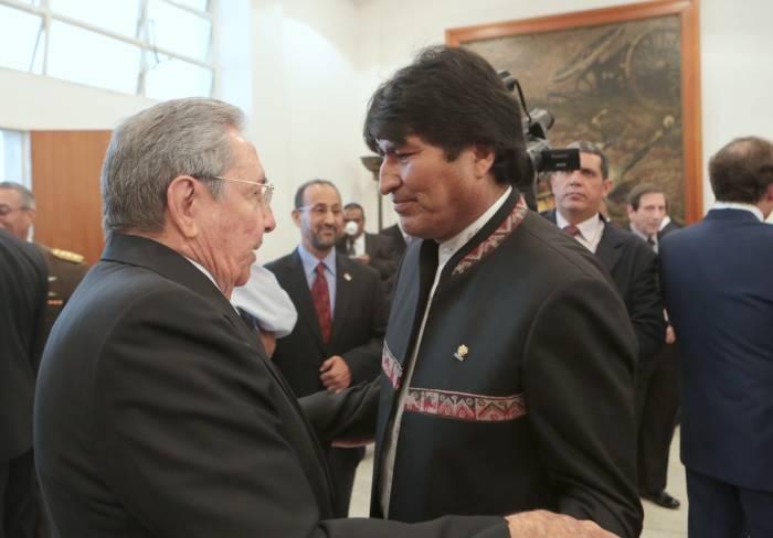 Despide Ra�l Castro a Presidente de Bolivia