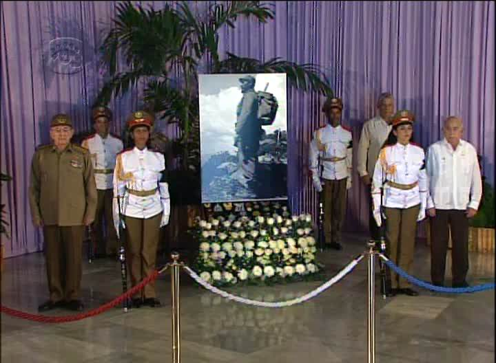 Encabeza Raúl última guardia de honor al líder de la Revolución, Fidel Castro