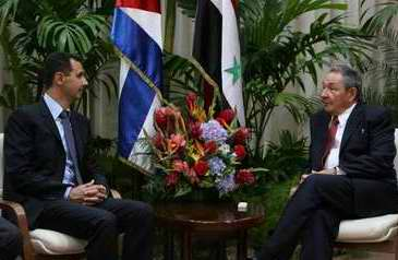 Raul Castro Receives Syrian President in Havana