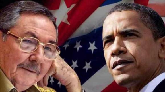 Raúl Castro Ruz y Barack Obama. normalización de los vínculos bilaterales entre Cuba y los Estados Unidos