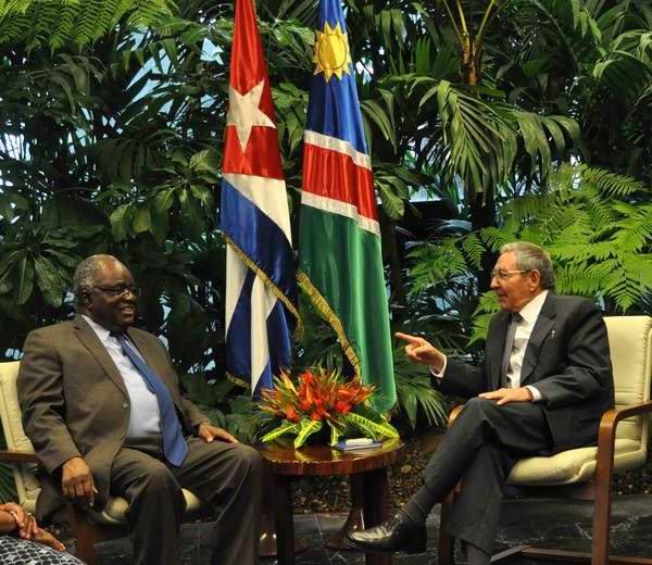 Recibió Raúl Castro al presidente de Namibia