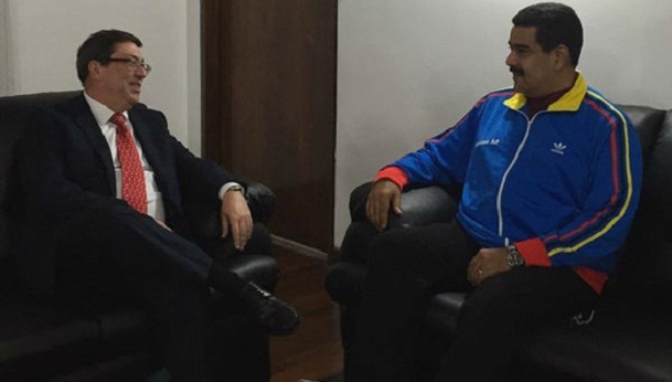 Recibe presidente Nicol�s Maduro a canciller cubano