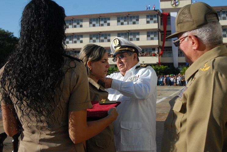 Graduación y ascenso en Escuela Militar Superior Comandante Arides Estévez Sánchez (+ Audio)