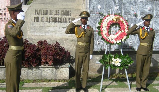 Panteón a los combatientes internacionalistas caídos en otras tierras