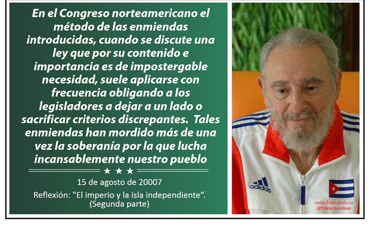 """Fidel Castro: """"Estados Unidos y su política imperial"""""""