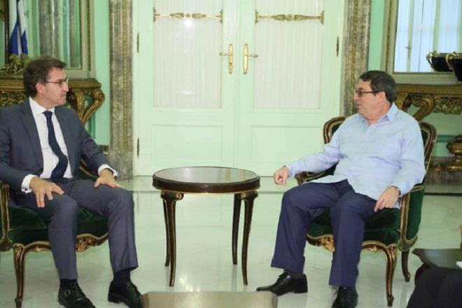 Canciller cubano se re�ne con Presidente de la Junta de Galicia