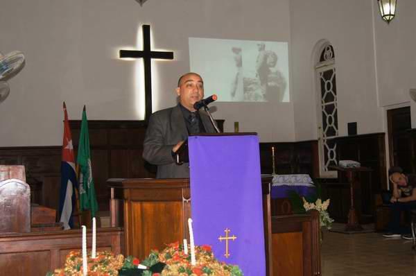 Reverendo Joel Ortega Opico, presidente del Consejo de Iglesias de Cuba. Foto: josé Miguel Solís