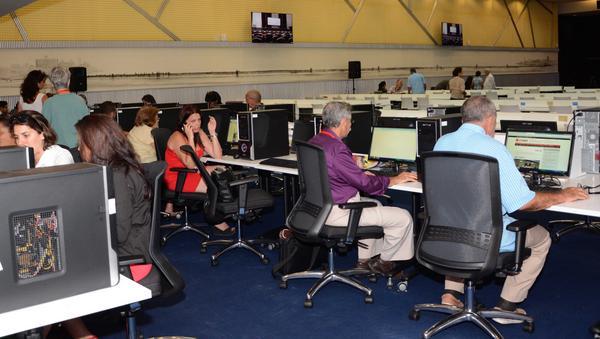 Sala de prensa para la VII Cumbre de la Asociación de Estados del Caribe (AEC). Foto:María Hecheverría