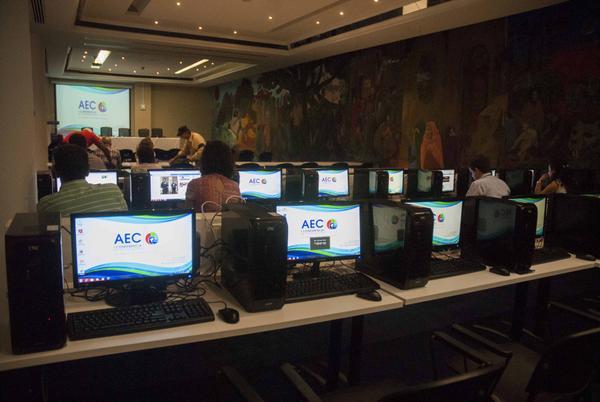 Inauguran sala de prensa para reunión de la AEC en Cuba