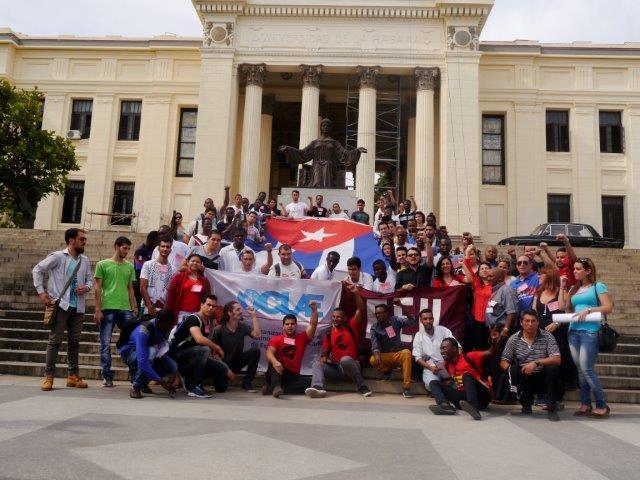 Ratifican estudiantes del mundo apoyo a la Revolución cubana
