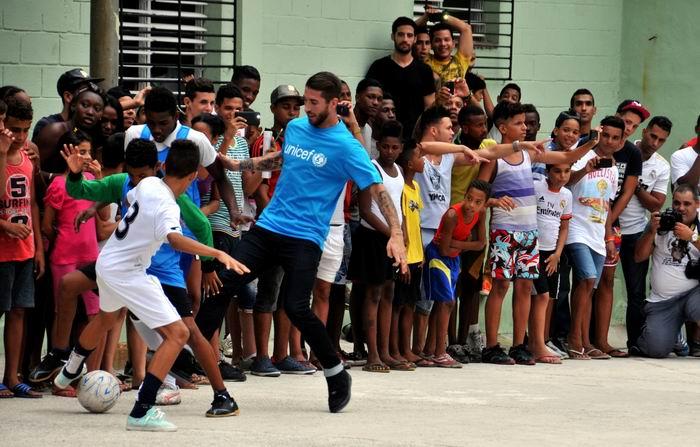 Sergio Ramos y el fútbol recalan en La Habana (+ Audio, Video y Fotos)