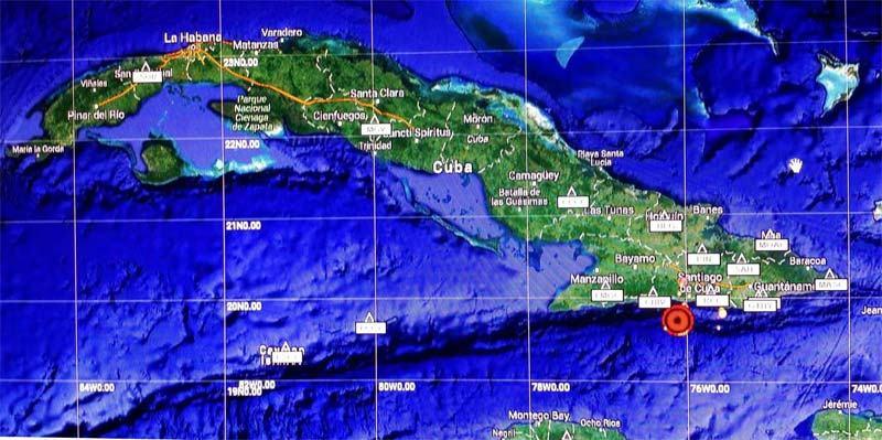 Fuerte temblor de tierra perceptible en Santiago de Cuba y Granma