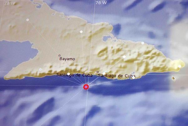 Último sismo perceptible de magnitud 3.5 en la escala de Richter, registrado por la estación sismológica a las 2 y 49 am, en Santiago de Cuba, el 18 de enero de 2016. ACN FOTO/ Miguel RUBIERA