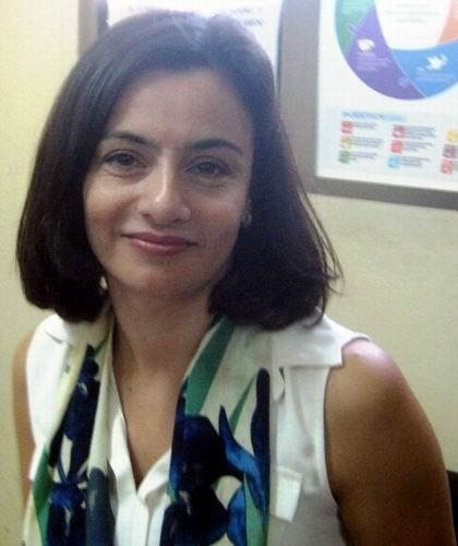 Señora Soledad Bauza, residente adjunta del Programa de las Naciones Unidas para el Desarrollo, PNUD, en Cuba. Foto: Carlos Sanabia