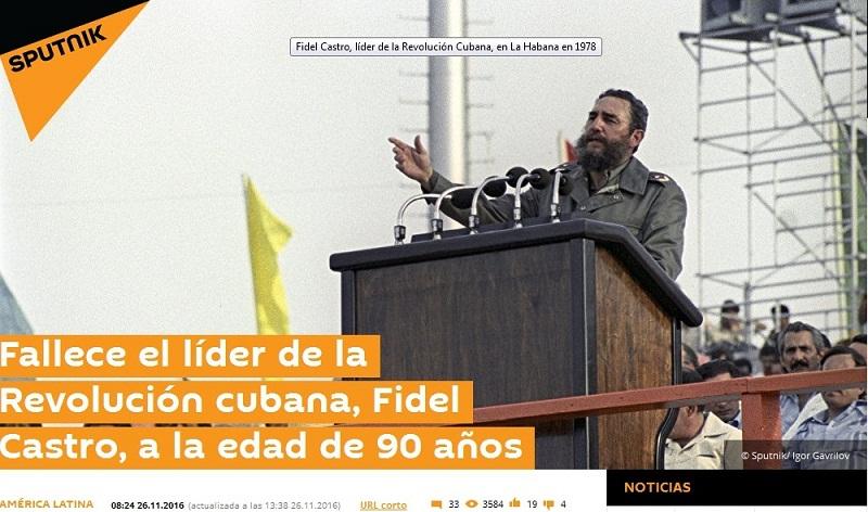 Gran repercusión por la muerte de Fidel Castro