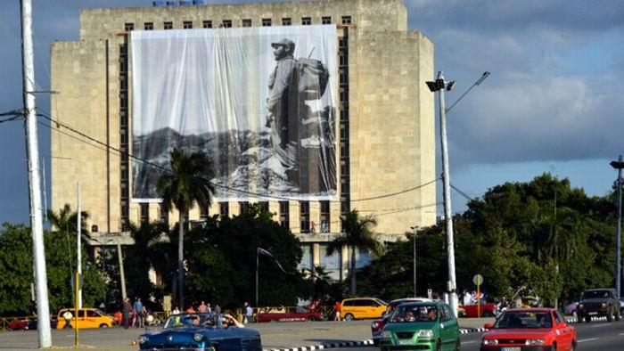 Una imagen del Comandante en Jefe Fidel Castro Ruz ha presidido durante estos días luctuosos los homenajes que se le han tributado a todo lo largo y ancho del país