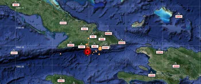 Registran sismo de 4.7 en Santiago de Cuba