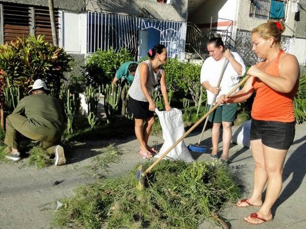 Memorable primera jornada de trabajo voluntario en Cuba
