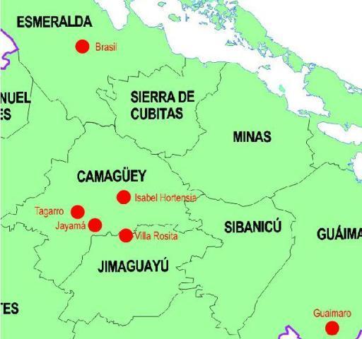 Localización de los transmisores en Camagüey