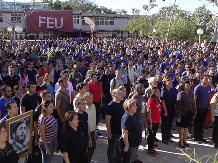 Homenaje póstumo a Fidel desde la Universidad de las Ciencias Informáticas (UCI). Foto: Luis Enrique Benet