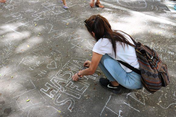 Desde de la Universidad de La Habana, la juventud y Cuba con Fidel.Foto: Darío Gabriel Sánchez