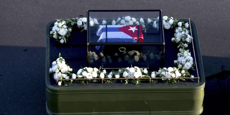 Urna de cedro con las cenizas del Comandante en Jefe, Fidel Castro