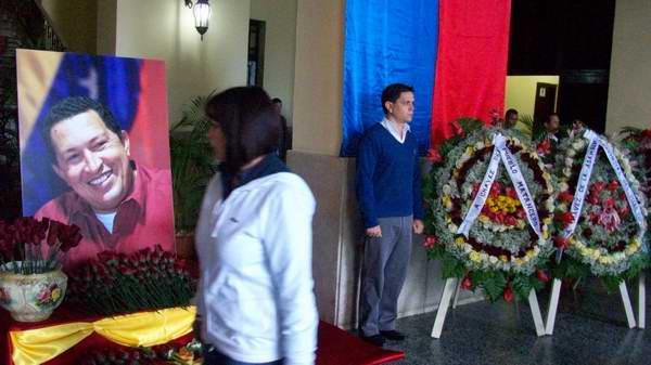 Homenaje a Hugo Chávez en Matanzas. Foto: José M. Solís.