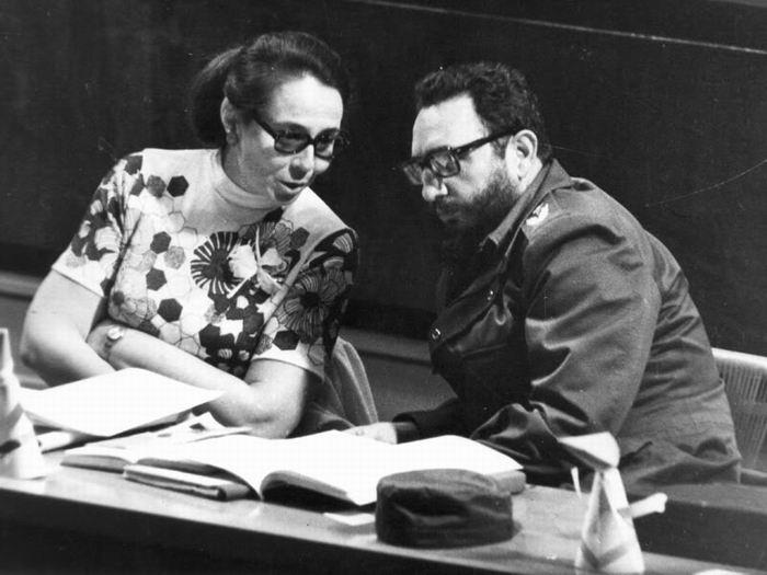 Vilma Espín y Fidel Castro