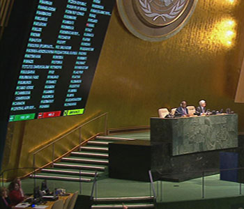 27 de octubre: Votación contra el bloqueo en la ONU