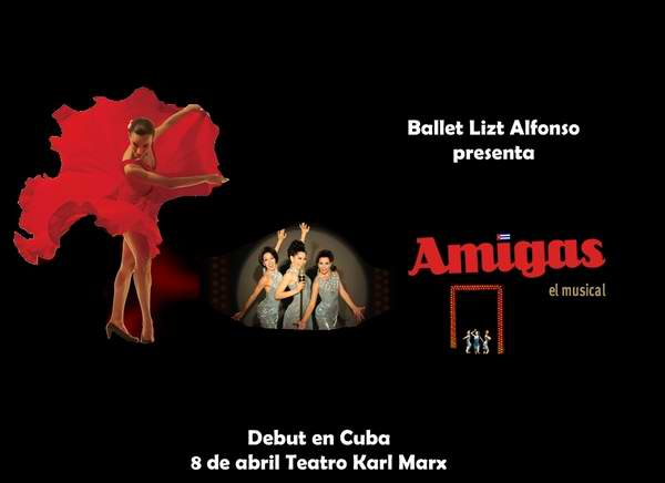 El espectáculo Amigas del Ballet Lizt Alfonso se estrenará en Cuba el próximo 8 de abril. Foto tomada de Cubarte