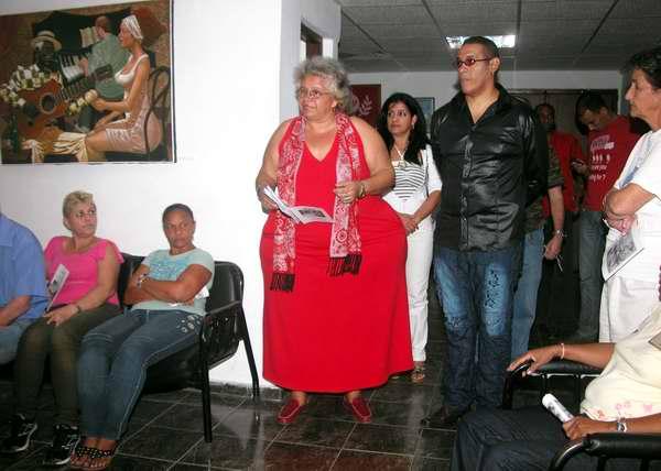 Apertura de la exposición Lo que el viento me dejó del autor Miguel Ángel Arzuaga en Radio Rebelde. Foto Abel Rojas