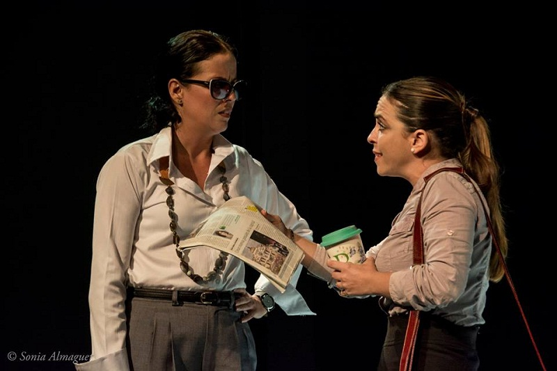 Yeandro Tamayo hace más elegante el texto de Melo, con una puesta escena sencilla. Foto: Sonial Almaguer